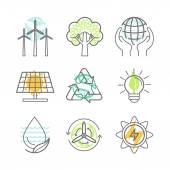 Vector ecology icons — Stock Vector
