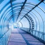 Blue air pedestrian tunnel — Stock Photo #60528165