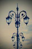 Uliczne lampy w stylu art deco — Zdjęcie stockowe