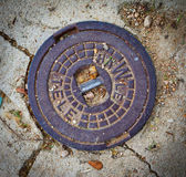 Manhole cover in Tossa de Mar, Catalonia — Foto Stock