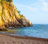 Tossa de Mar, Catalonia, Spain, 06.17.2013, a small beach near C — Stock Photo