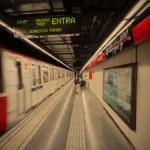 Spain, Barcelona 2013-06-14, subway station Arc de Triomf — Stock Photo #61882349