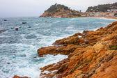 Tossa de Mar, Spain, Bay Badia de Tossa, 18-06-2013 — Stock Photo
