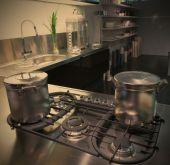 Nowoczesna kuchnia z rondla — Zdjęcie stockowe