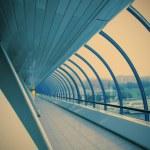 Futuristic glass corridor — Stock Photo #62225883
