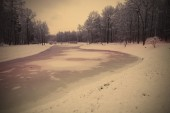 Frozen lake — Stock Photo