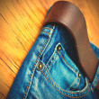 Aged blue jeans part — Stock Photo #62531809