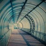 Blue air pedestrian tunnel — Stock Photo #62531025