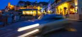 Tossa de Mar, Passeig del Mar street at summer night — Stock Photo