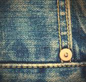 Blue jeans, close up — Stock Photo