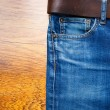 Aged blue jeans — Stock Photo #62588695