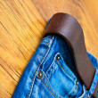 Aged blue jeans part — Stock Photo #62589527