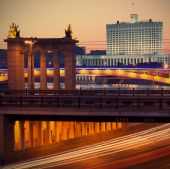 Russia - 05.23.2014, Moscow evening landscape — Stock Photo