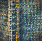 Seam on the jeans — Stock Photo