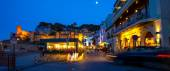 Tossa de Mar, Passeig del Mar street at summer night — Stock Photo