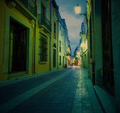 Tossa de Mar, Catalonia, Spain, 18.06.2013, old town street — Stockfoto
