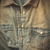 Denim shirt with a pocket — Stock Photo