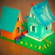 Toy cardboard houses — Stock Photo #64867699