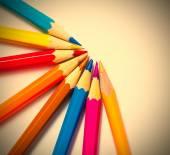 Conjunto de lápis de cor — Fotografia Stock