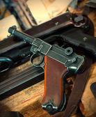 Пистолет Parabellum и mashinegun Mp 38 — Стоковое фото
