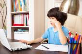 Child doing homework — Stock Photo