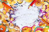 Aparas de lápis de cor — Fotografia Stock
