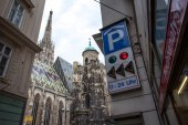 Cityscape with St. Stephen's Cathedral. Vienna — Stock Photo