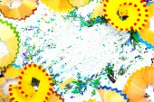 Colored backdrop with crumbs slate — Stock Photo