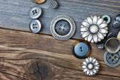 Several vintage buttons — Stock Photo