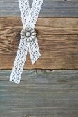 Buttons flowers and lace tape — Stock Photo