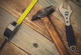 Naturaleza muerta con herramientas de trabajo — Foto de Stock