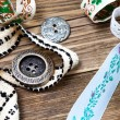 Old ribbons, lace, tape and vintage buttons — Stock Photo #73894139