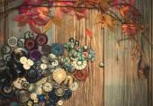 Renkli vintage düğmeler — Stok fotoğraf