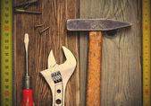 Винтажные слесарные инструменты — Стоковое фото