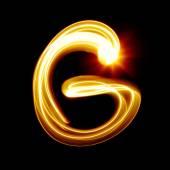Created by light alphabet — Stock Photo