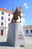 Statua di re svatopluk — Foto Stock