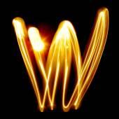 Created by light alphabet — Stockfoto