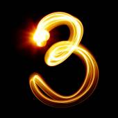 Created by light numerals — Stock Photo