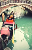 Góndola en venecia — Foto de Stock