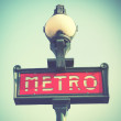 Paris metro sign — Stock Photo #54975071