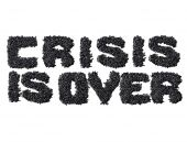 Crisis Is Over — Stock Photo