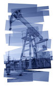Pump jack abstract background. — Stock Photo