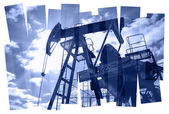Pump jack abstract composition background. — Stock Photo