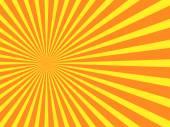 Vector orange rays background — Stock Vector