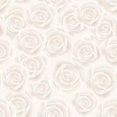 White roses seamless background — Stock Vector
