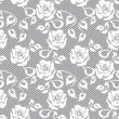 White lace seamless pattern on gray background — Stock Vector #57800427