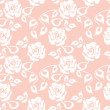 White roses seamless pattern on pink background — Stock Vector #57970907