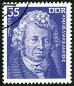GERMANY - 1975: shows Andre-Marie Ampere (1775-1836), scientist — Stock Photo
