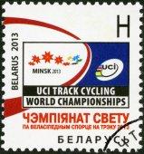 BELARUS - 2013: dedicated the Track Cycling World Championship 2013 — Stock Photo