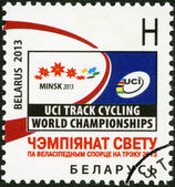 BELARUS - 2013: dedicated the Track Cycling World Championship 2013 — Stock fotografie